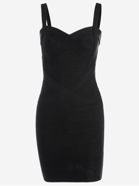 hot Sweetheart Neck Bodycon Bandage Dress - BLACK S Mobile