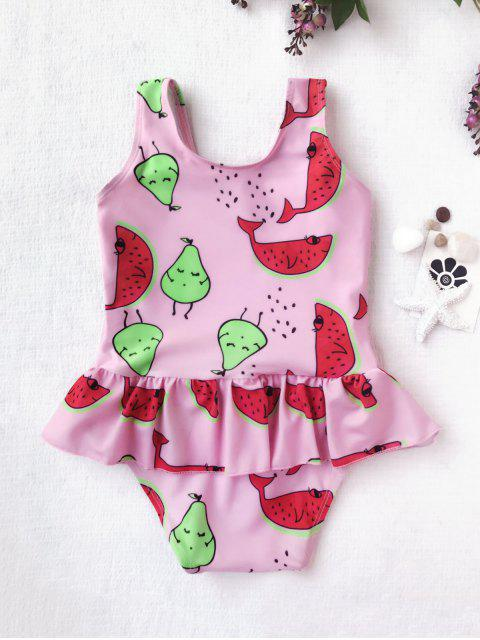 new Pear Watermelon Print One Piece Swimsuit - PINK 5T Mobile