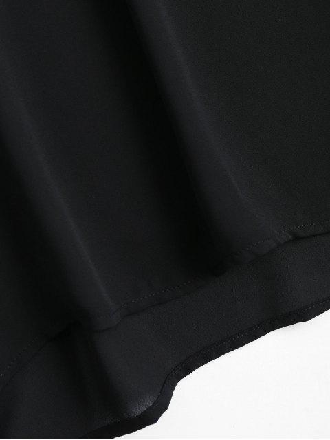 Blouson à manches évasées en mousseline de soie - Noir L Mobile