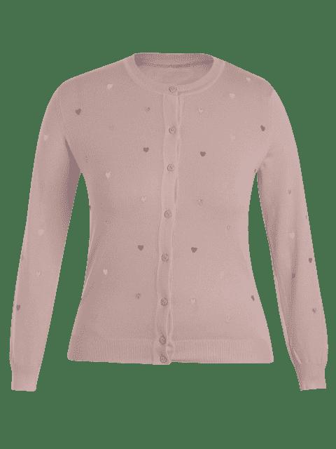 Tricots taille grand bordé coeur - ROSE PÂLE XL Mobile