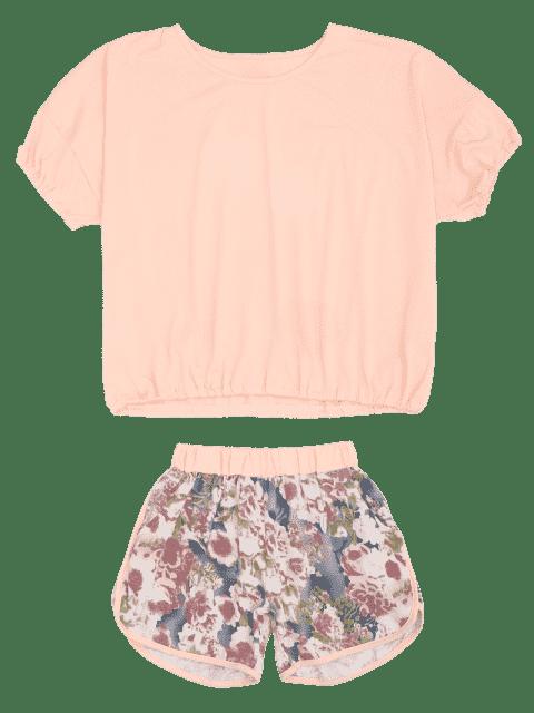 Maillot de bain avec pantalons - ROSE PÂLE M Mobile