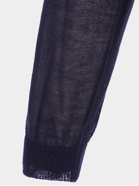 Cardigan Cardigan Taille Plus - Bleu Violet XL Mobile
