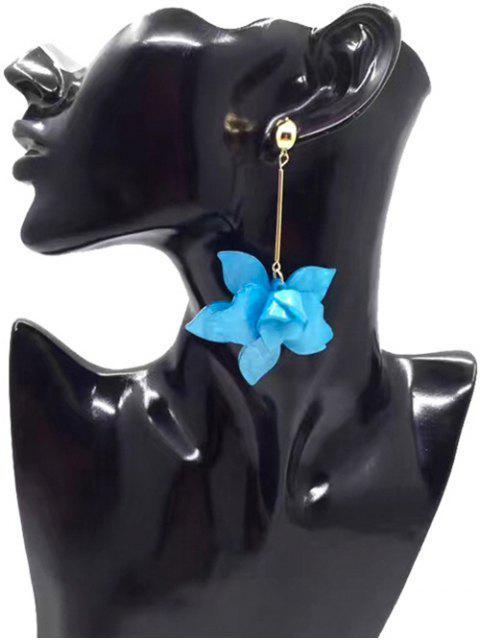 Stereo Floral Design Pendentif Boucles d'oreilles - Bleu  Mobile