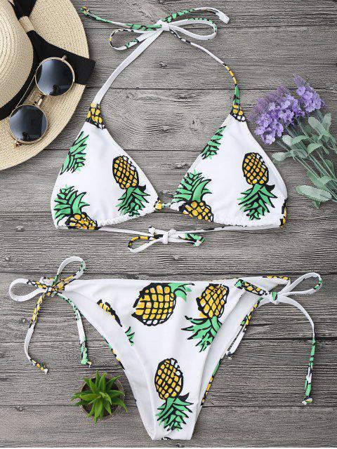 online Pineapple String Bikini Set - WHITE S Mobile