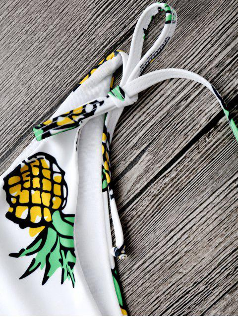 online Pineapple String Bikini Set - WHITE S Mobile