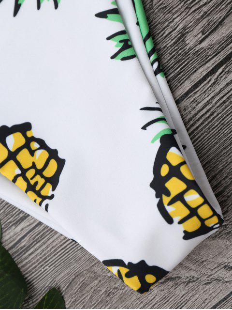 affordable Pineapple High Cut Swim Bottom - WHITE L Mobile