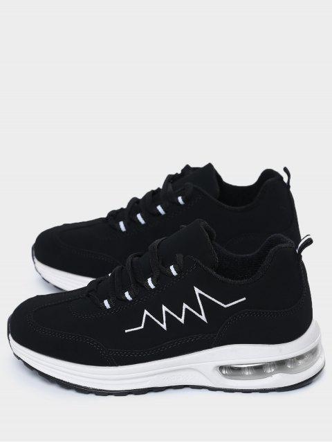 affordable Air Cushion Embroider Line Athletic Shoes - BLACK 39 Mobile