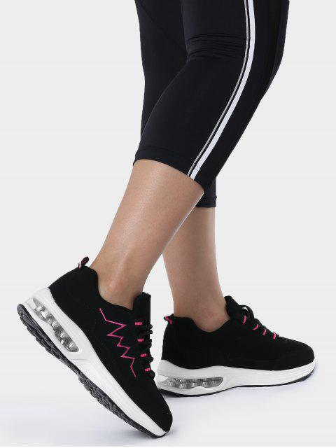 online Air Cushion Embroider Line Athletic Shoes - ROSE RED 39 Mobile
