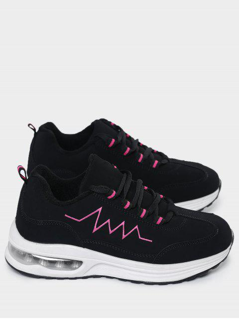 hot Air Cushion Embroider Line Athletic Shoes - ROSE RED 40 Mobile