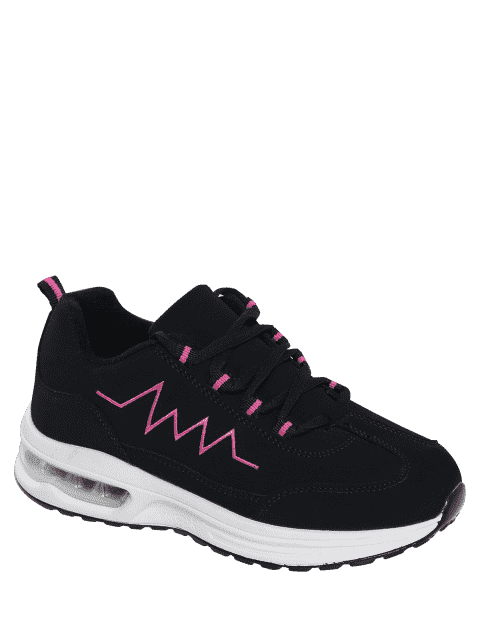 outfit Air Cushion Embroider Line Athletic Shoes - ROSE RED 37 Mobile