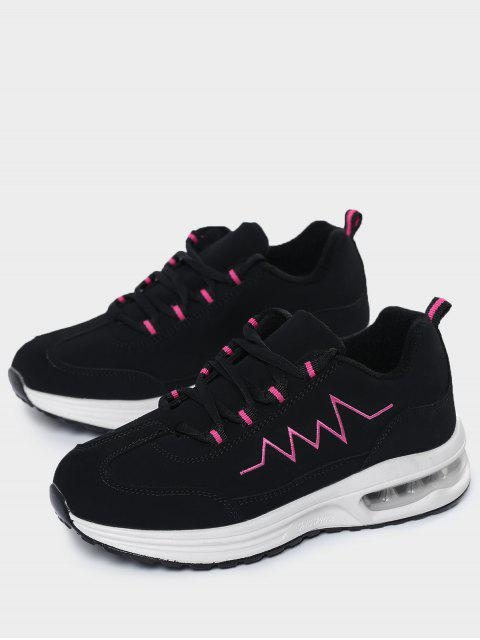 outfits Air Cushion Embroider Line Athletic Shoes - ROSE RED 38 Mobile