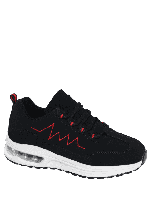 latest Air Cushion Embroider Line Athletic Shoes - RED 40 Mobile