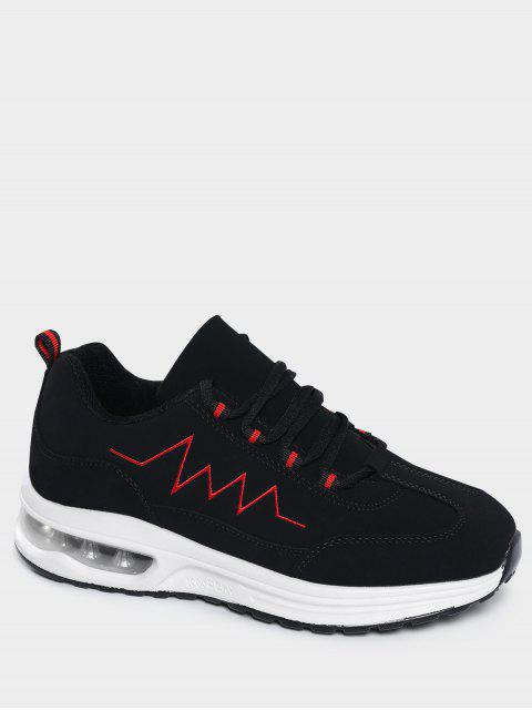 fashion Air Cushion Embroider Line Athletic Shoes - RED 38 Mobile