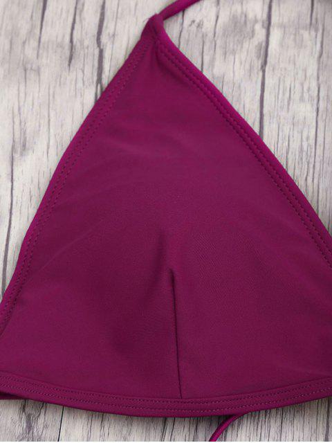 latest High Waisted Plus Size Bikini Set - MERLOT 3XL Mobile