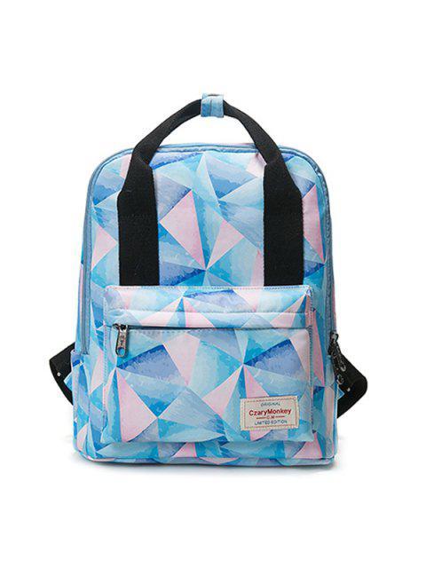 best Printed Top Handle Backpack - PINK  Mobile