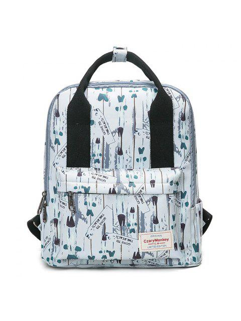 new Printed Top Handle Backpack - WHITE  Mobile
