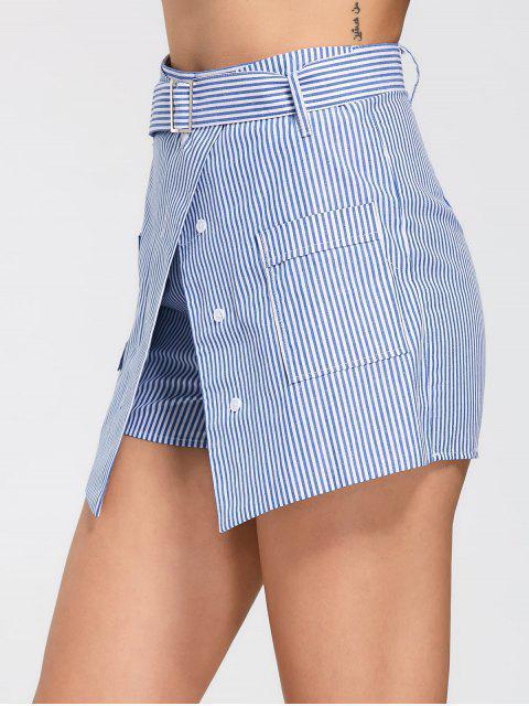 Skorts rayés à rayures avec poches - Bleu clair XL Mobile