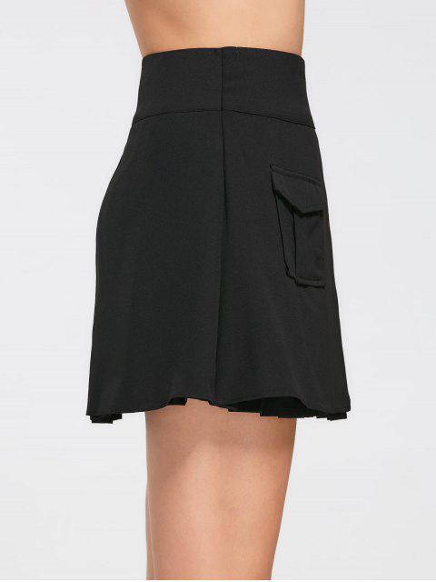 Jupe plissée à haute taille - Noir 2XL Mobile