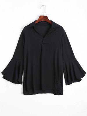 Blusa Blusa De Blusa De Chiffon - Preto L