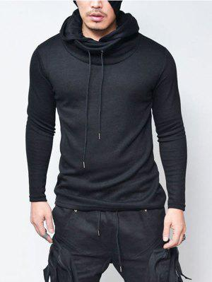 Drawstring Cowl Neck Pullover Hoodie
