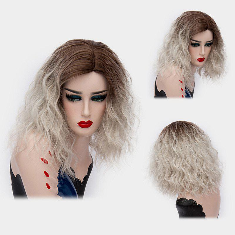 Medium Side Part Ombre Shaggy Natural Wave Synthetic Wig 220538803
