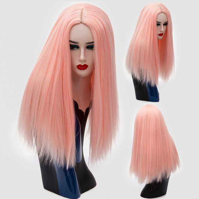 Long Center Parting Fluffy Straight Synthetic Wig 220550503