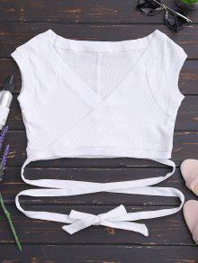 S Blanco Crossover Cuello Arrollado Top WqwRR41Tc7