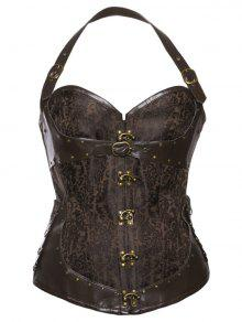 Steampunk Corset Top - Brown S