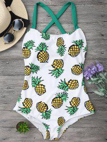 Maillot De Bain Imprimé D'ananas Dos Croisé - S