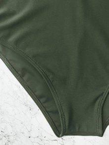 b332272770 ... Caged High Waisted Bikini Set. outfits Caged High Waisted Bikini Set - HUNTER  GREEN L