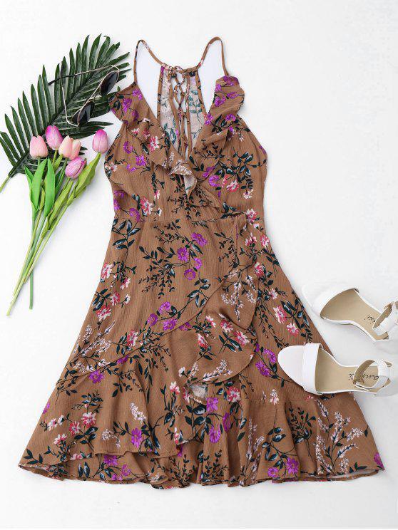 Vestido de encaje con volantes - Floral S