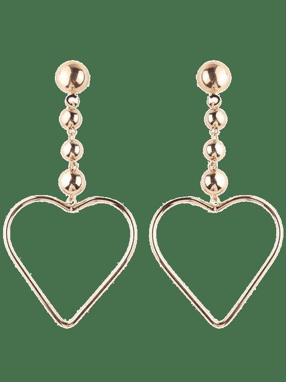 Boucles d'oreilles en forme de coeur creuses - Or