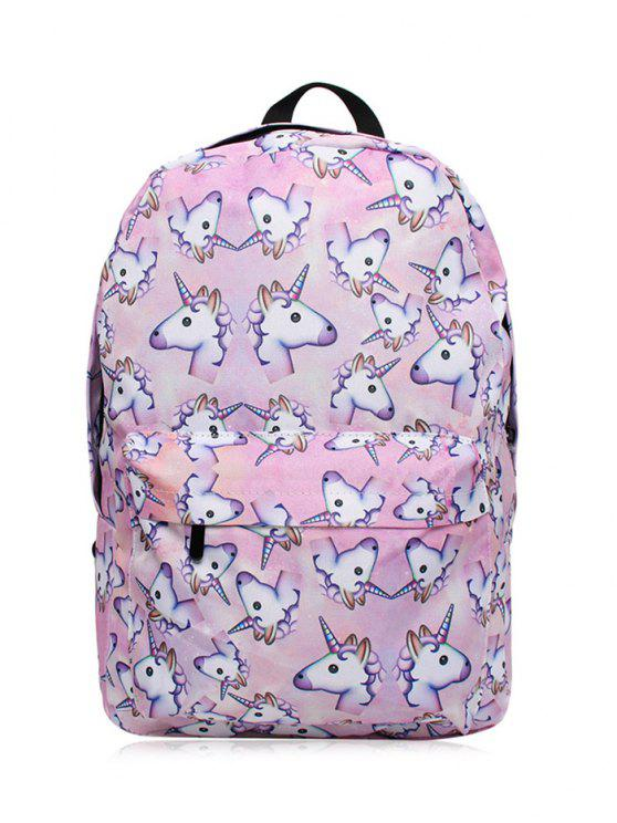 unique Unicorn Print Backpack - PINKISH PURPLE