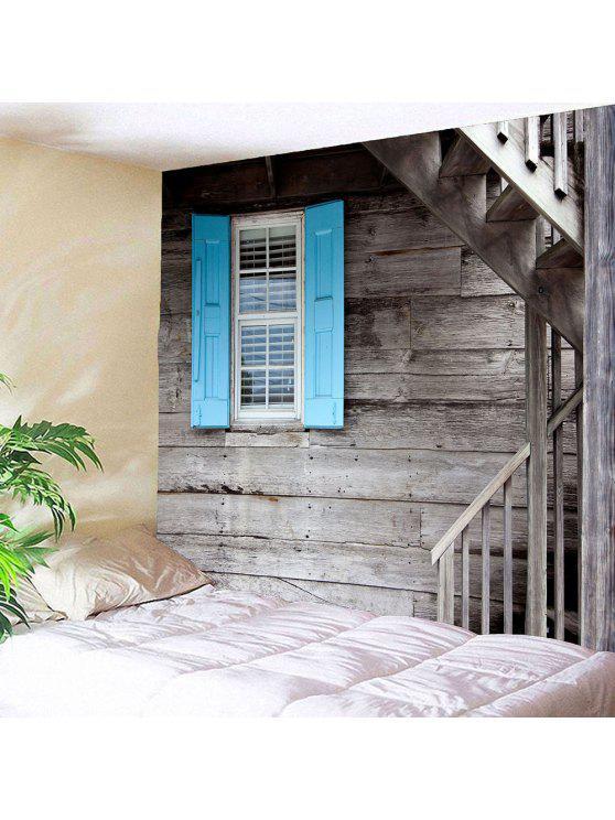 الخشب الحبوب درج نافذة الطباعة ماء الجدار نسيج - خشب W59 بوصة * L51 بوصة