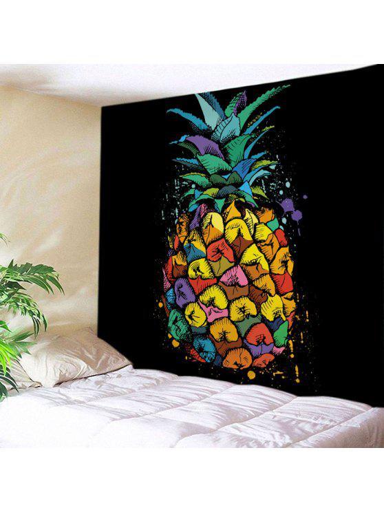 الجدار شنقا فن الديكور الأناناس طباعة نسيج - مزيج ملون W59 بوصة * L51 بوصة
