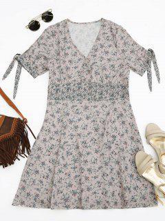 Vestido Pequeño Minúsculo Floral Con Botones - Floral L