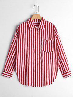 Chemise Rayée Avec Pochette - Rouge Bande S