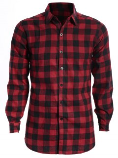 Chemise Homme à Carreaux - Rouge Et Noir Xl