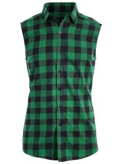 Camisa De Manga Corta Sin Mangas - Verde M