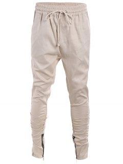 Pantalon Twill Amincissant Homme à Corde - Kaki Xl