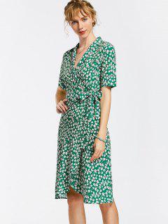 Wickel Kleid Mit Blumen - Blumen M