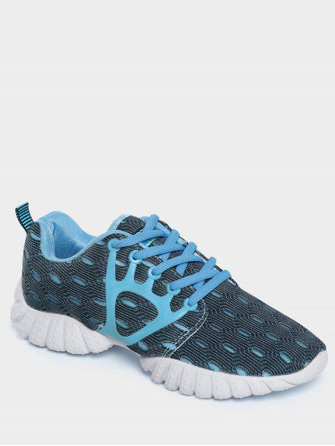 ladies Breathable Mesh Geometric Pattern Athletic Shoes - BLUE 40 Mobile