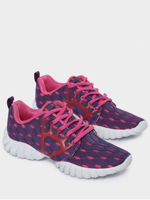 online Breathable Mesh Geometric Pattern Athletic Shoes - PURPLE 39 Mobile