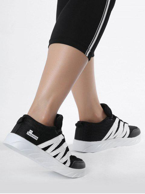 hot Breathable Tie Up Mesh Skate Shoes - BLACK 37 Mobile