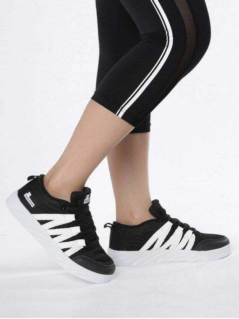 shops Breathable Tie Up Mesh Skate Shoes - BLACK 39 Mobile