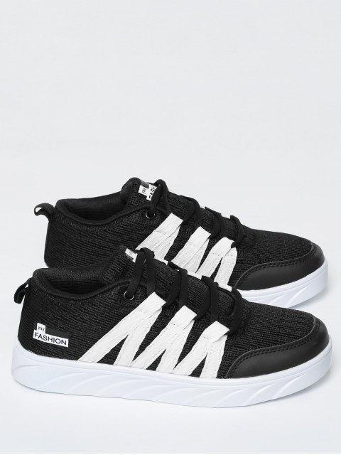 latest Breathable Tie Up Mesh Skate Shoes - BLACK 40 Mobile