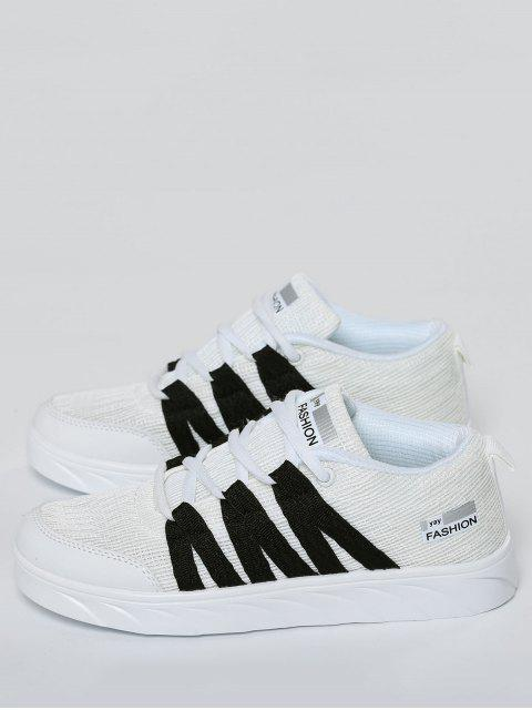 affordable Breathable Tie Up Mesh Skate Shoes - WHITE 41 Mobile