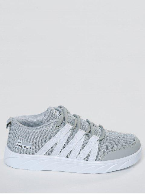 fashion Breathable Tie Up Mesh Skate Shoes - GRAY 41 Mobile