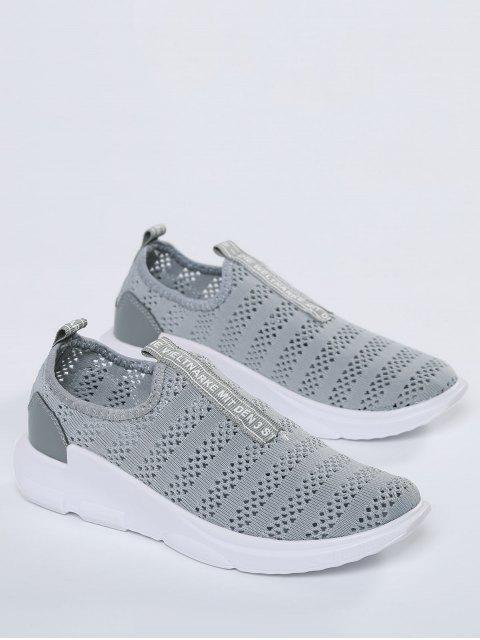 fashion Breathable Mesh Letter Pattern Athletic Shoes - GRAY 41 Mobile
