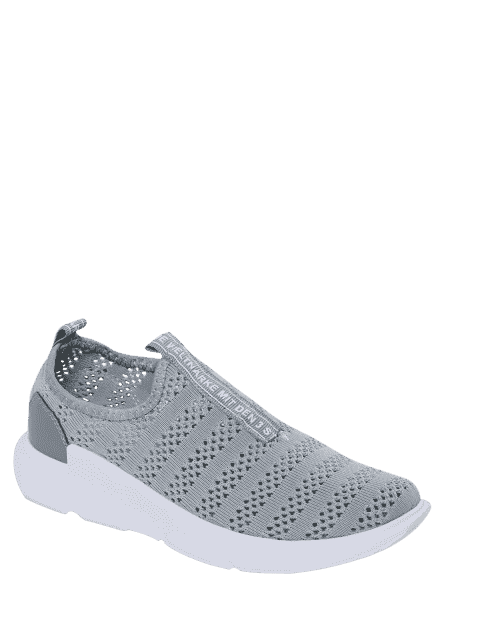 chic Breathable Mesh Letter Pattern Athletic Shoes - GRAY 39 Mobile